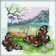 """Набор для вышивания крестом RTO """"Из серии Бабочки Павлиний глаз"""""""
