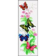 """Набор для вышивания крестом RTO """"Бабочки и цветы"""""""