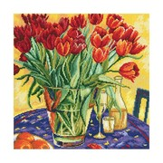 """Набор для вышивания крестом RTO """"Тюльпаны на столе"""""""
