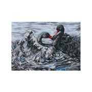 """Набор для вышивания крестом RTO """"Два черных лебедя"""""""