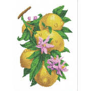 """Набор для вышивания крестом Каролинка """"Ветка с лимонами"""""""