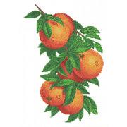 """Канва/ткань с нанесенным рисунком Каролинка """"Ветка с апельсинами"""""""