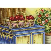 """Набор для вышивания крестом Белоснежка """"Корзинка с яблоками"""""""