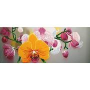 """Канва/ткань с нанесенным рисунком Конёк """"Нежные орхидеи"""""""