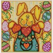 """Ткань с рисунком для вышивки бисером Конёк """"Пасхальный кролик 2"""""""