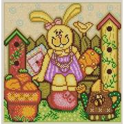 """Ткань с рисунком для вышивки бисером Конёк """"Пасхальный кролик 1"""""""