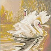 """Канва/ткань с нанесенным рисунком Конёк """"Белые лебеди"""""""