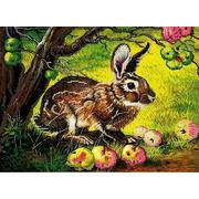 """Ткань с рисунком для вышивки бисером Божья коровка """"Сладкие яблоки"""""""