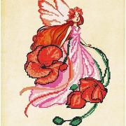 """Ткань с рисунком для вышивки бисером Божья коровка """"Маковка"""""""