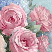 """Набор для вышивания крестом Letistitch """"Pale Pink Roses"""""""