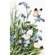 "Набор для вышивания крестом Letistitch ""Butterflies and bluebird flowers"""