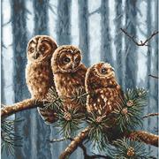 """Набор для вышивания крестом Letistitch """"Owls family"""""""