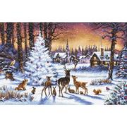 """Набор для вышивания крестом Letistitch """"Christmas Wood"""""""