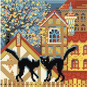 """Набор для выкладывания мозаики Риолис """"Город и кошки. Осень"""""""