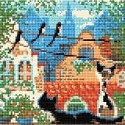 """Набор для выкладывания мозаики Риолис """"Город и кошки. Лето"""""""