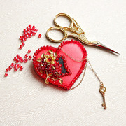 """Набор для вышивания бисером Образа в каменьях """"Ключ к сердцу"""""""