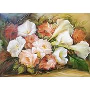 """Канва/ткань с нанесенным рисунком Каролинка """"Цветы"""""""