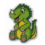 """Набор для вышивания крестом Овен """"Значок- Динозаврик"""""""