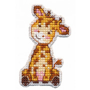 """Набор для вышивания крестом Овен """"Значок-Жираф"""""""