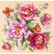 """Набор для вышивания крестом Чудесная игла """"Магия цветов. Пионы"""""""