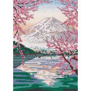 "Набор для вышивания крестом Овен ""Фудзияма и озеро Кавагути"""