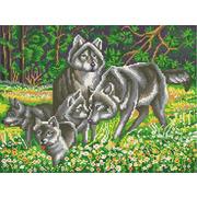 """Канва с нанесенным рисунком Конёк """"Волчья семья"""""""