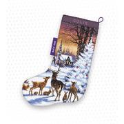 """Набор для вышивания крестом Letistitch """"Christmas Wood Stocking"""""""