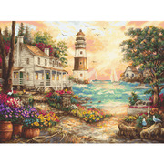 "Набор для вышивания крестом Letistitch ""Cottage by the sea"""