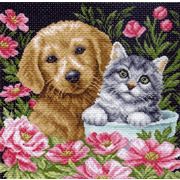 """Набор для вышивания крестом Матрёнин посад """"Котики и собачки"""""""