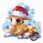 """Набор для вышивания крестом Риолис """"Новогодний бычок"""""""