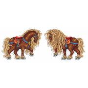 """Набор для вышивания крестом Жар-птица (от МП-Студии) """"Богатырский конь"""""""