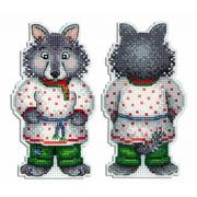 """Набор для вышивания крестом Жар-птица (от МП-Студии) """"Серый волк-зубами щелк"""""""