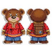 """Набор для вышивания крестом Жар-птица (от МП-Студии) """"Косолапый медведь"""""""