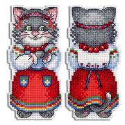 """Набор для вышивания крестом Жар-птица (от МП-Студии) """"Кошка мурка"""""""
