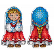 """Набор для вышивания крестом Жар-птица (от МП-Студии) """"Внучка Машенька"""""""