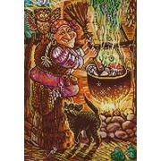 "Канва/ткань с нанесенным рисунком Конёк ""Кулинар Баба Яга"""