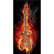 """Канва/ткань с нанесенным рисунком Конёк """"Гитара в огне"""""""