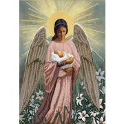 """Канва/ткань с нанесенным рисунком Конёк """"В руках ангела"""""""