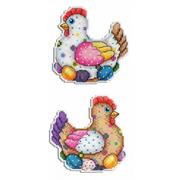 """Набор для вышивания крестом Жар-птица (от МП-Студии) """"Пасхальная курочка"""""""
