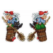 "Набор для вышивания крестом Жар-птица (от МП-Студии) ""Бабушка Яга"""