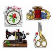"""Набор для вышивания крестом Жар-птица (от МП-Студии) """"Рукоделные магниты"""""""