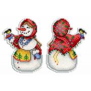 """Набор для вышивания крестом Жар-птица (от МП-Студии) """"Снеговушка"""""""