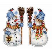 """Набор для вышивания крестом Жар-птица (от МП-Студии) """"Снеговик"""""""