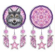 """Набор для вышивания крестом Жар-птица (от МП-Студии) """"Ловец снов. Волк"""""""