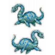 """Набор для вышивания крестом Жар-птица (от МП-Студии) """"Динозавры. Плезиозавр"""""""