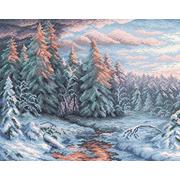 """Набор для выкладывания мозаики Brilliart (от МП Студии) """"Зимний закат"""""""