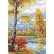 """Набор для выкладывания мозаики Brilliart (от МП Студии) """"Осенний пейзаж"""""""