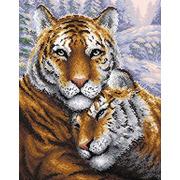 """Набор для выкладывания мозаики Brilliart (от МП Студии) """"Тигры"""""""