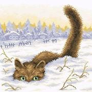 """Набор для выкладывания мозаики Brilliart (от МП Студии) """"Кот в снегу"""""""