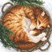 """Набор для выкладывания мозаики Brilliart (от МП Студии) """"Зима в лукошке"""""""